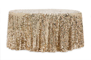 120 Customize Round Large Payette Sequin Tablecloth For Sale