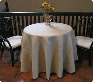 Jute Burlap Customize Round Tablecloth