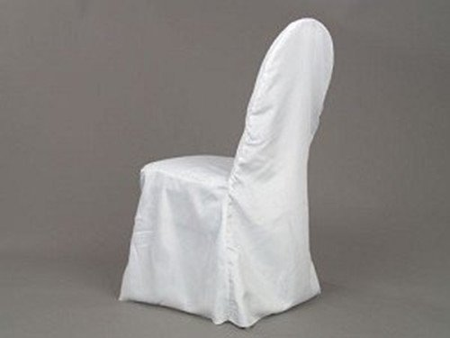 White polyester banquet chair cover supplier