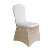 Wholesale fancy lycra banquet gold chair cover for wedding, chair covers in china