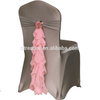 Cheap High-quality Fancy organza chair warp sash wedding chair sashes banquet chair sash