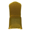 Fancy lycra banquet gold chair cover for wedding, chair covers factory in china spandex