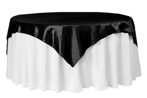 72x72 Square Taffeta Table Overlay Topper