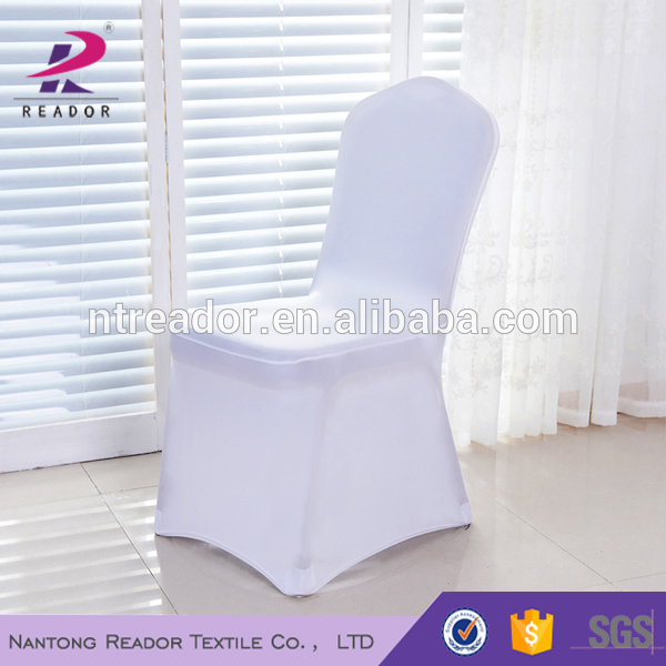 factory wedding chair cover banquet spandex chair cover flat front