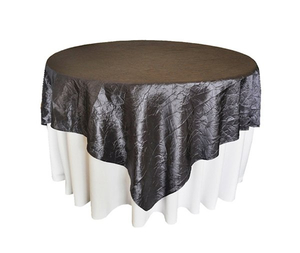Crushed taffeta table overlay wedding