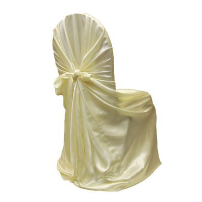 Universal Self- tie Satin Wedding Chair Covers
