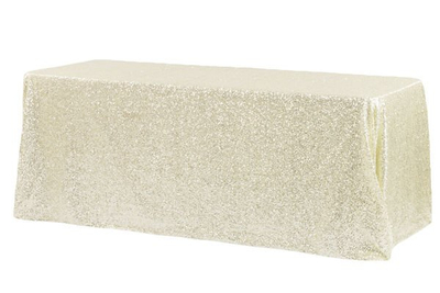 "Wholesale 90""x132"" Rectangular Glitz Sequin Tablecloth"
