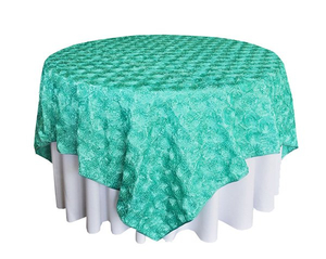 Rosette satin table overlay factory