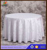 Pink Round Linen Jacquard Banquet Tablecloth Factory