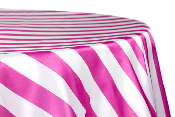 Stripe 120 Satin Customize Round Tablecloth