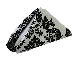 Black And White Damask Napkin