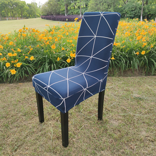 wholesale diamond lattice spandex dining chair cover for dining room office