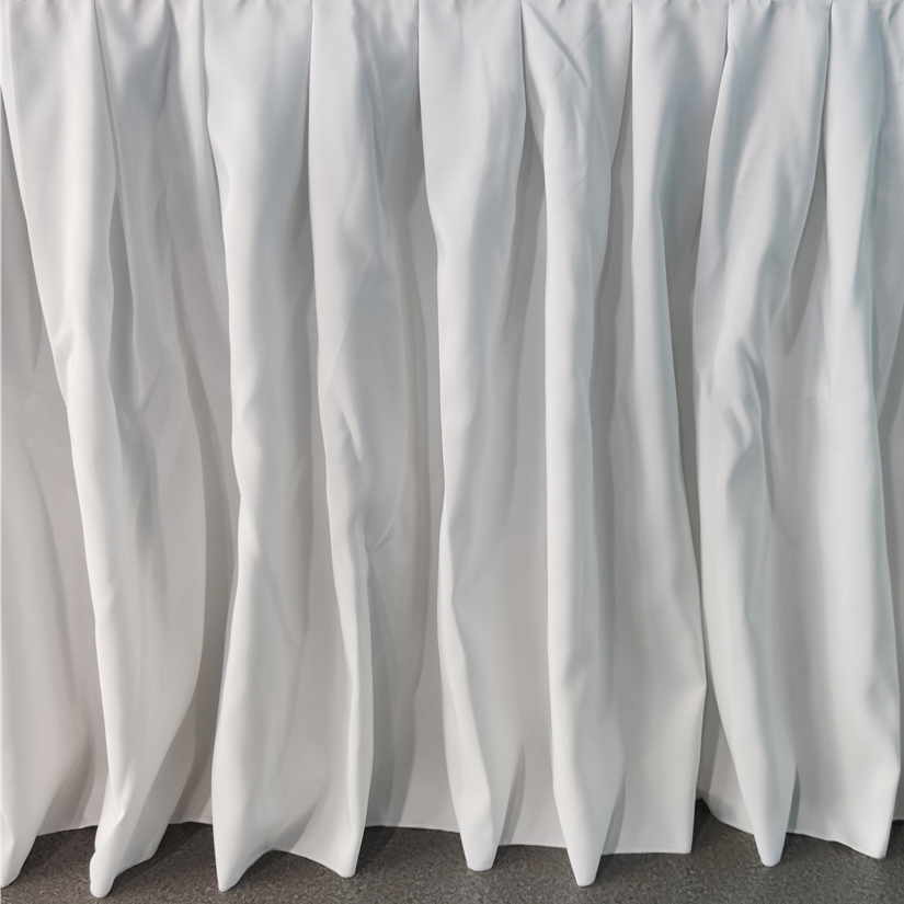 6ft polyester banquet table skirt
