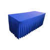 100% Polyester Pleated Spandex Ruffled Table Skirt With Table Cloth Table Cover For Wedding Party Banquet Decor