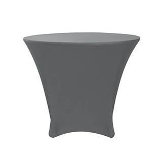 Vintage custom cocktail black fitted spandex stretch polyester table cloth for wedding factory price