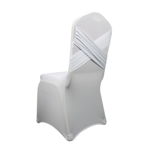 cheap universal polyester universal banquet wedding ruched spandex chair covers white