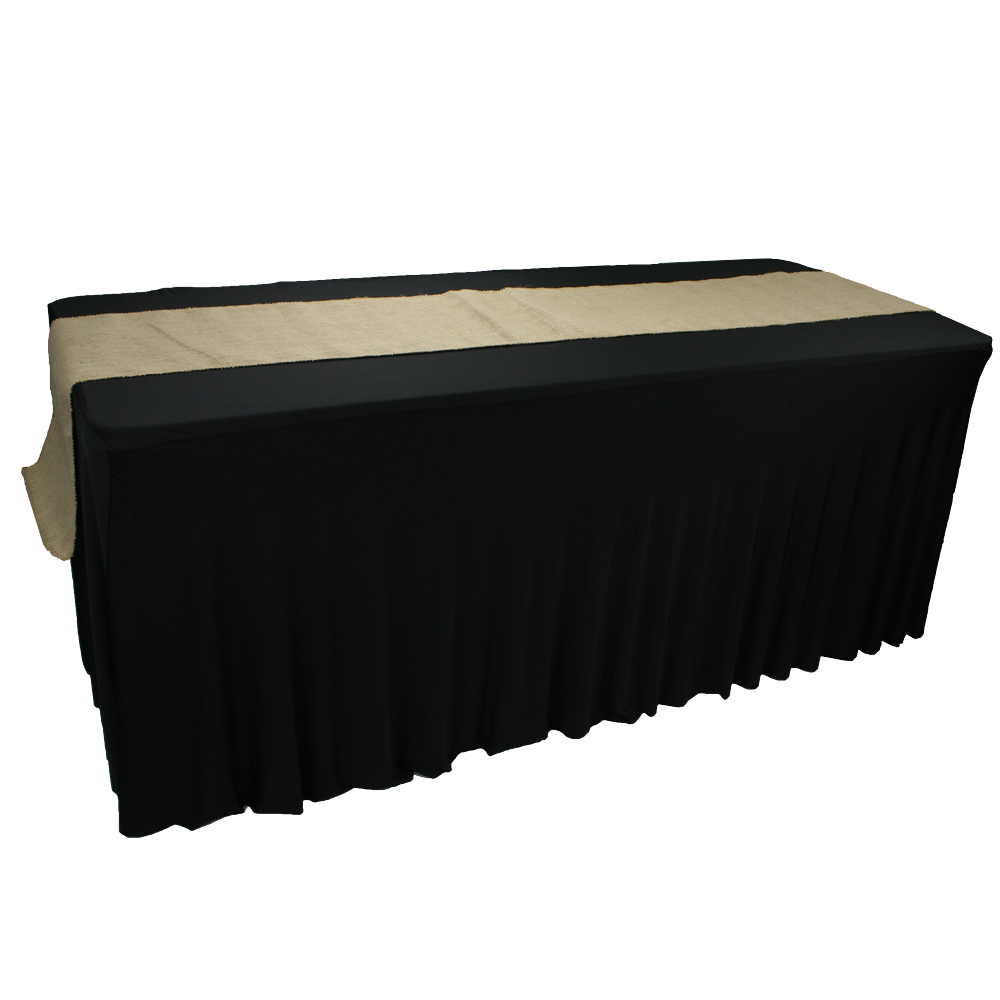 Nantong custom gold wedding banquet handmade burlap table runner for tables
