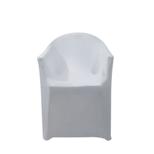 White stretch spandex wedding chair covers with arms
