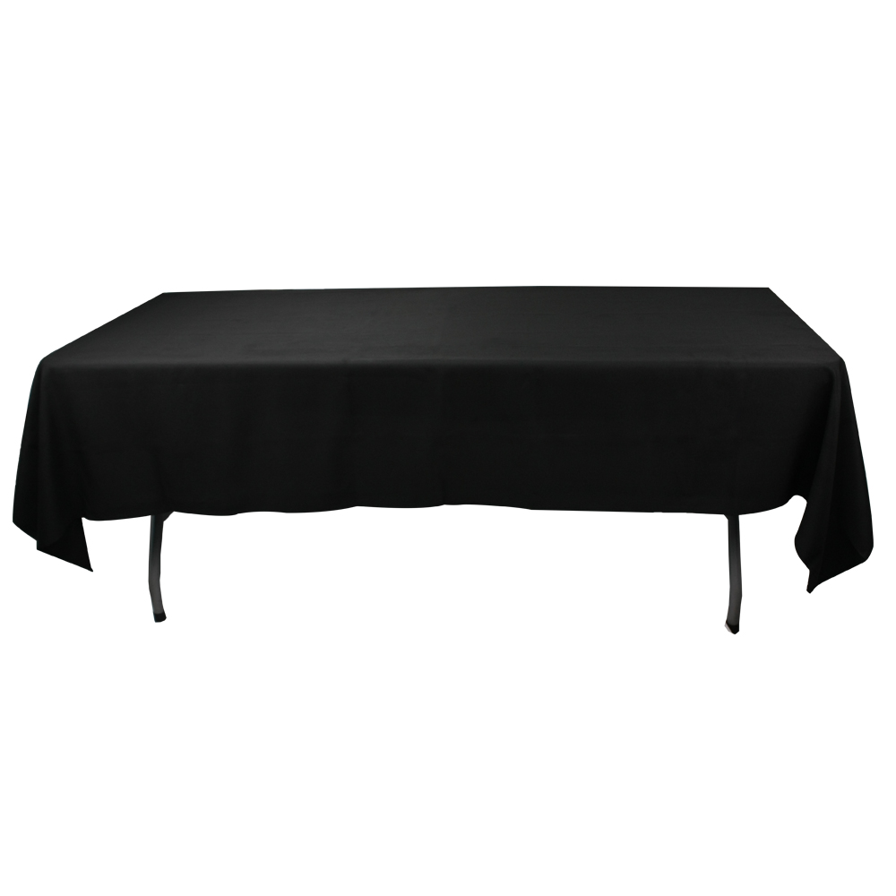 90x132 inch white polyester rectangular hotel party table cloth banquet tablecloth custom factory