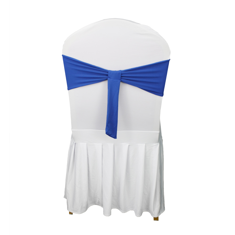 fancy cheap satin banquet wedding chair sashes chair bows