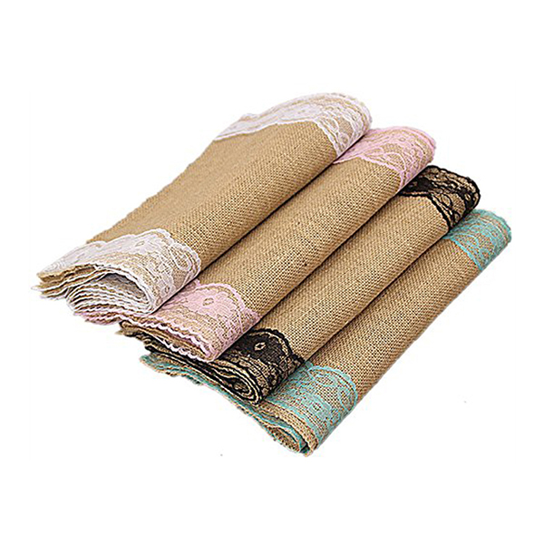 Wholesale chinese linen woven lace embroidered printed table runner fabric