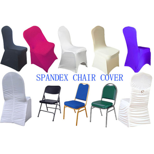 Wholesale cheap white banquet ruffled folding spandex chair covers wedding