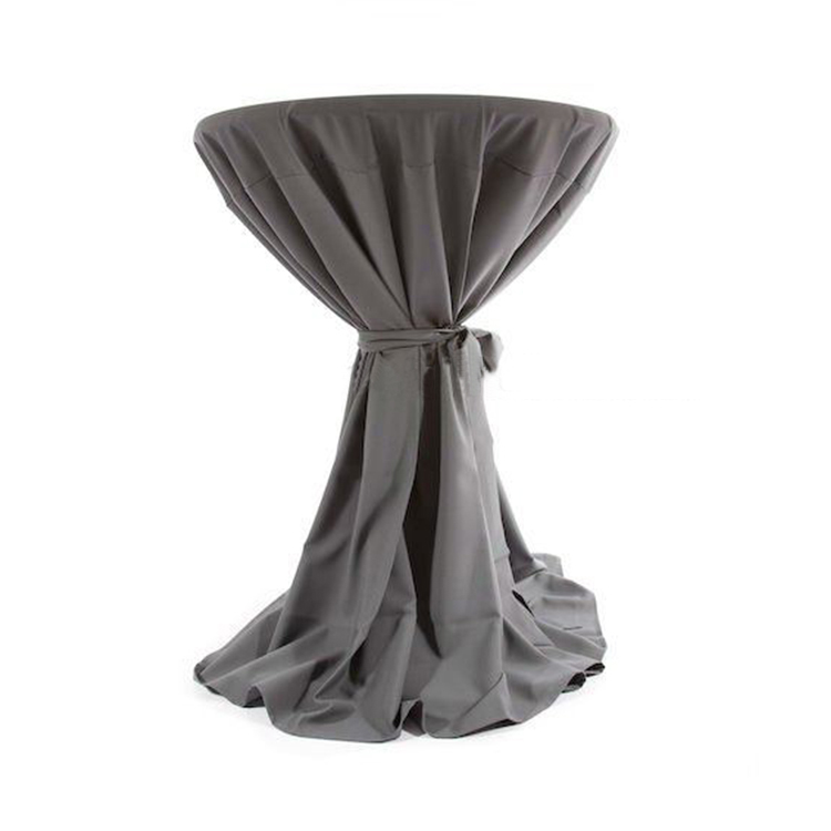Wholesale spandex cocktail table cover with elastic feet round tablecloths