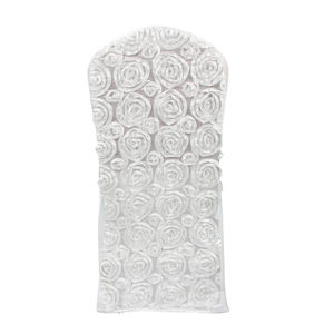 high quality white rosette spandex chair cover for wedding banquet party