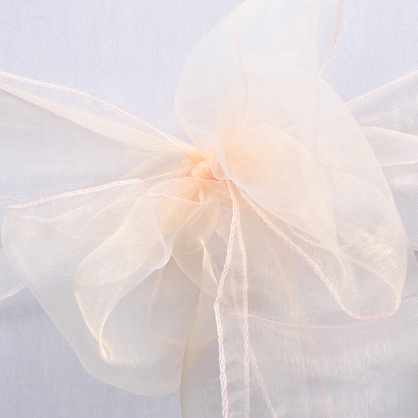 Cheap wholesale organza wedding chair sashes banquet chair sash
