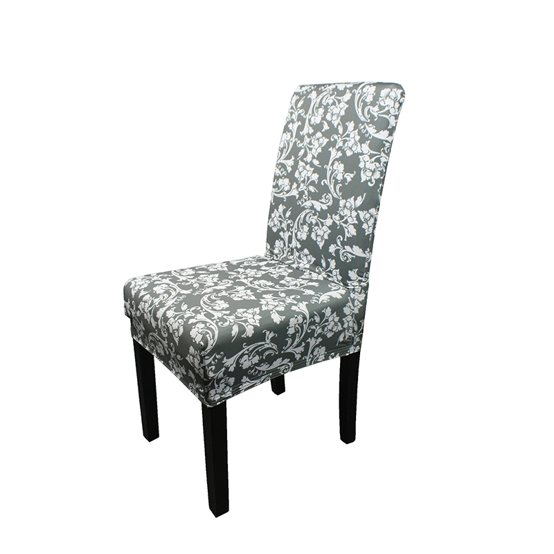Wholesale Floral Printing Stretch Spandex Dining Room Chair Slipcovers Covers for Wedding Banquet