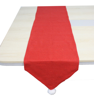 Cheap custom red wedding party christmas table runner for round tables