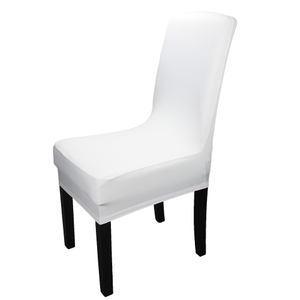 Wholesale custom stretch office kitchen white spandex dining room slipcovers chair covers