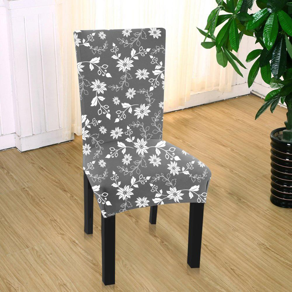 Sensational Spandex Fit Stretch Dining Room Chair Covers With Printed Machost Co Dining Chair Design Ideas Machostcouk